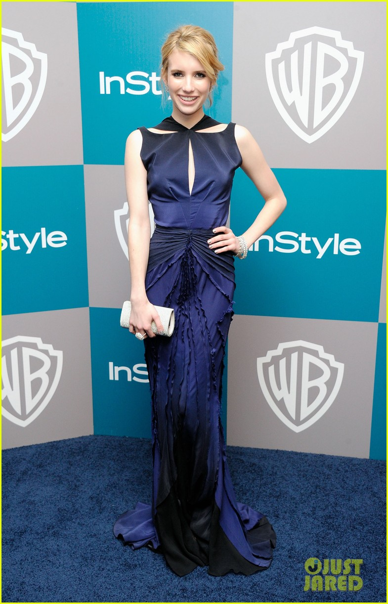 emma roberts chord overstreet golden globes after party 09