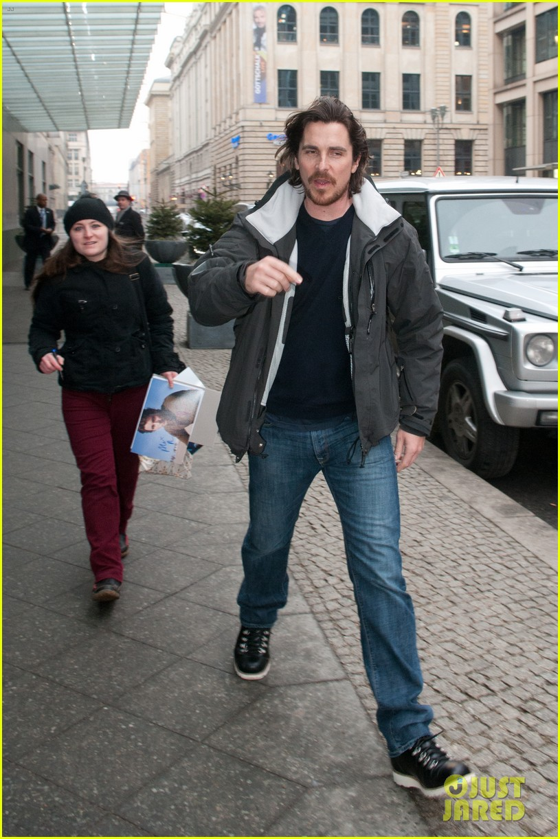 christian bale family berlin 04