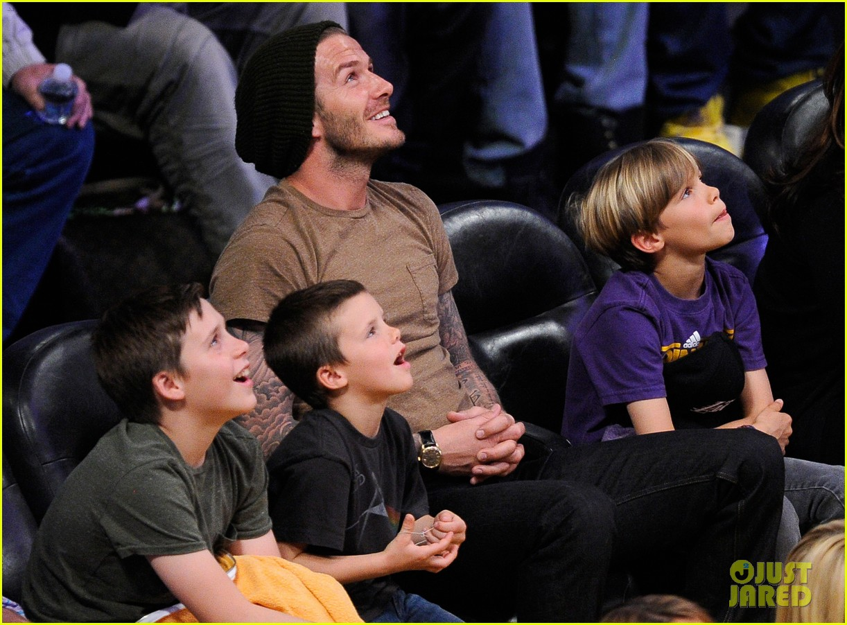 david beckham lakers game with the boys 042630409