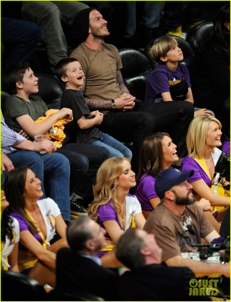 david beckham lakers game with the boys 072630412