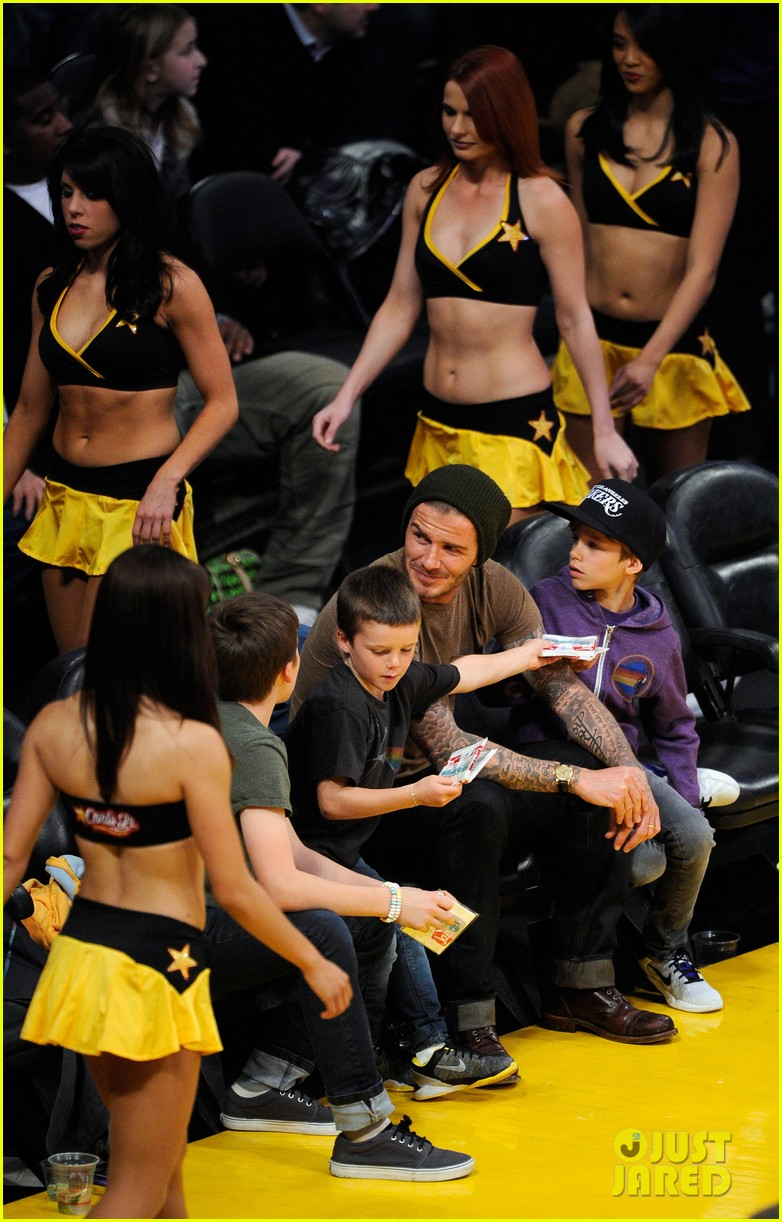 david beckham lakers game with the boys 092630414