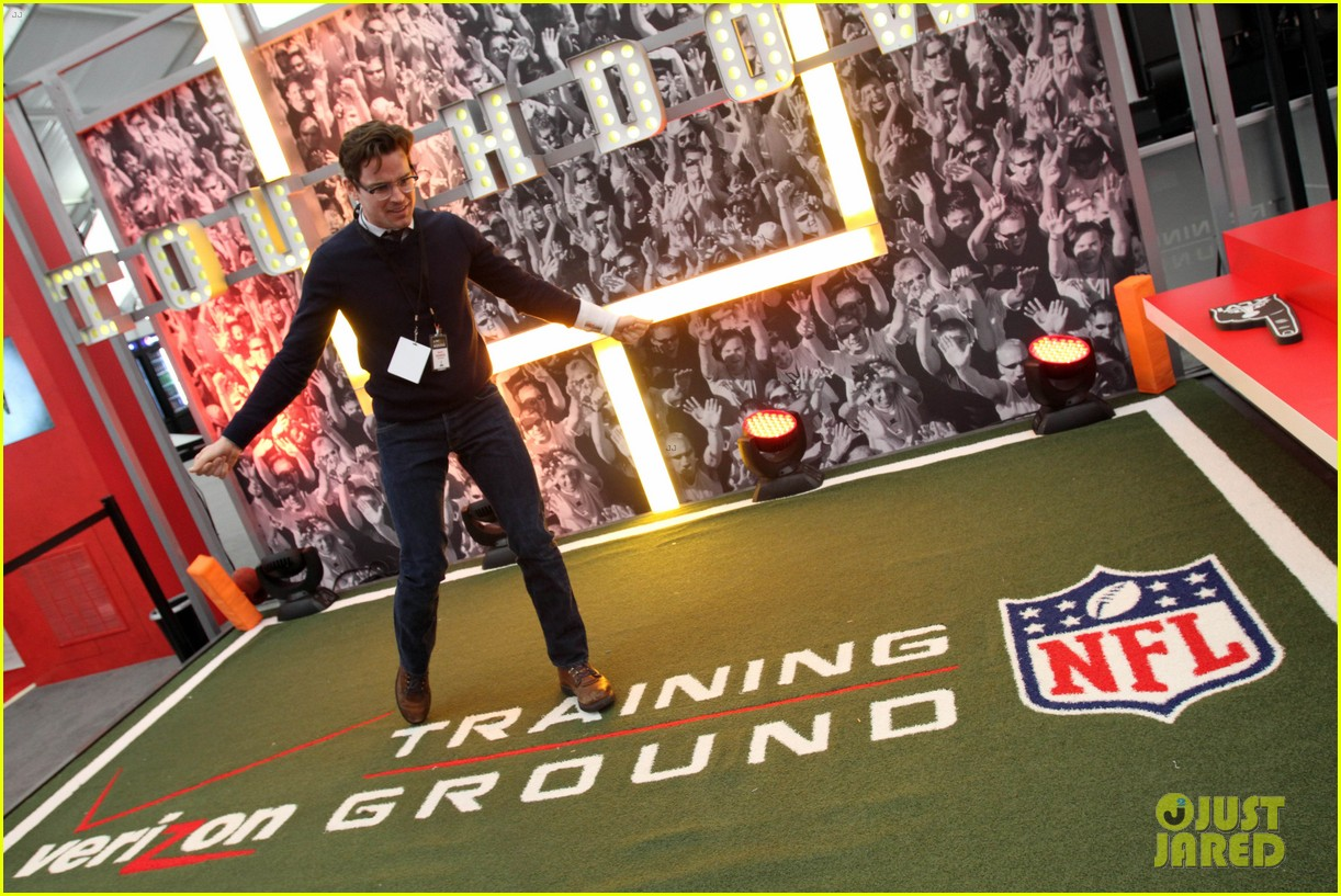 matt bomer super bowl events with son kit 132625278
