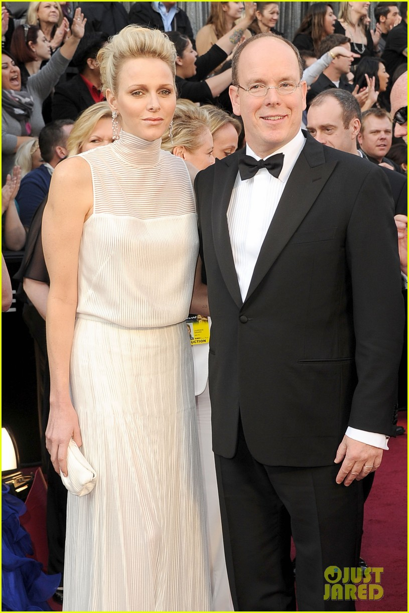 princess charlene prince albert oscars 2012 red carpet 10