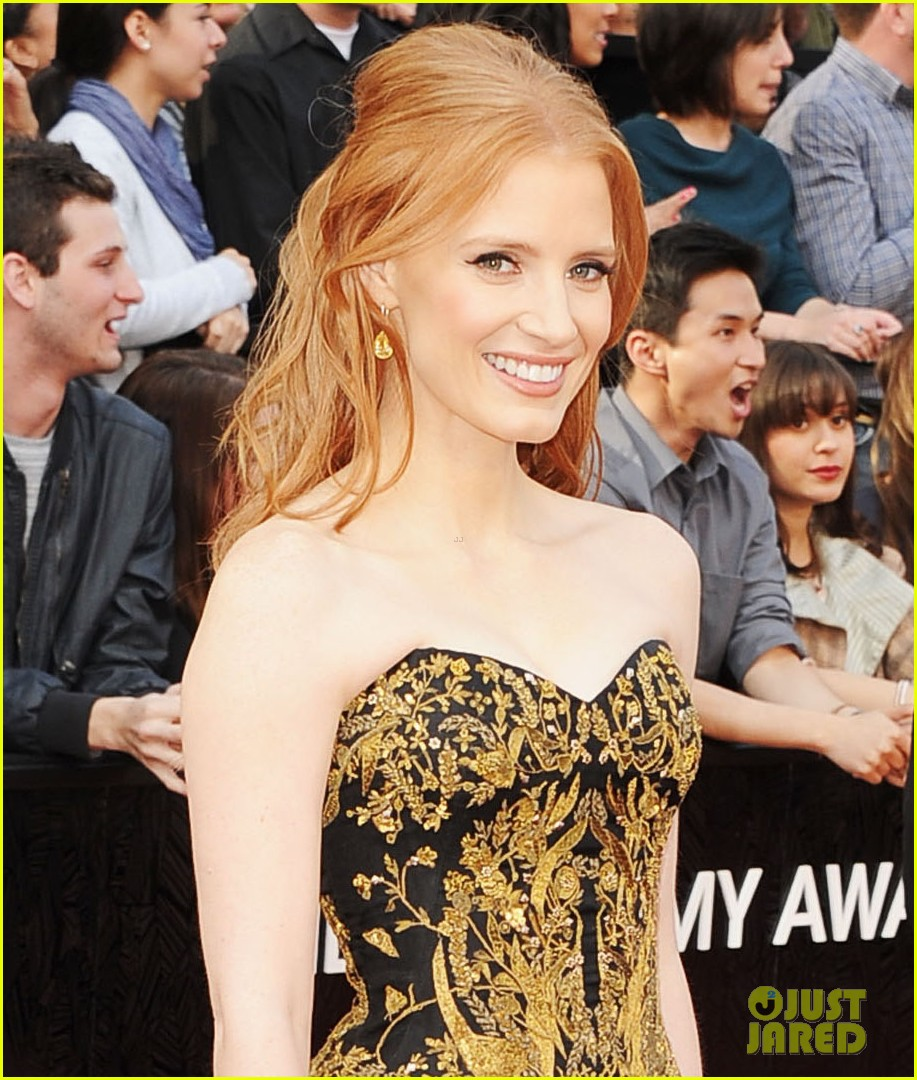 jessica chastain 2012 oscars 012633410