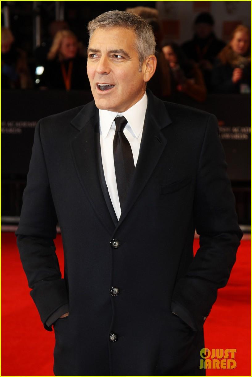 george clooney 2012 baftas red carpet 082627993