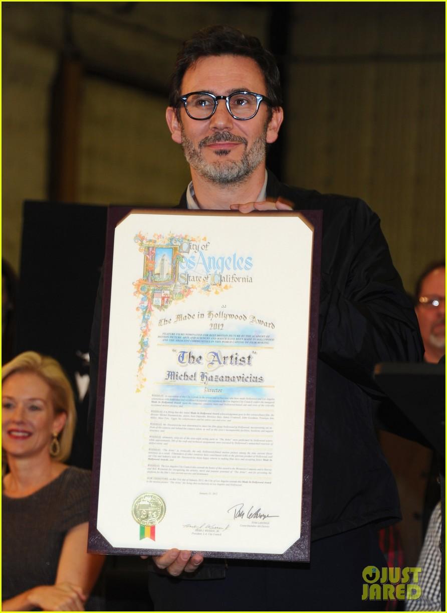 jean dujardin the artist l a city council ceremony 052624354