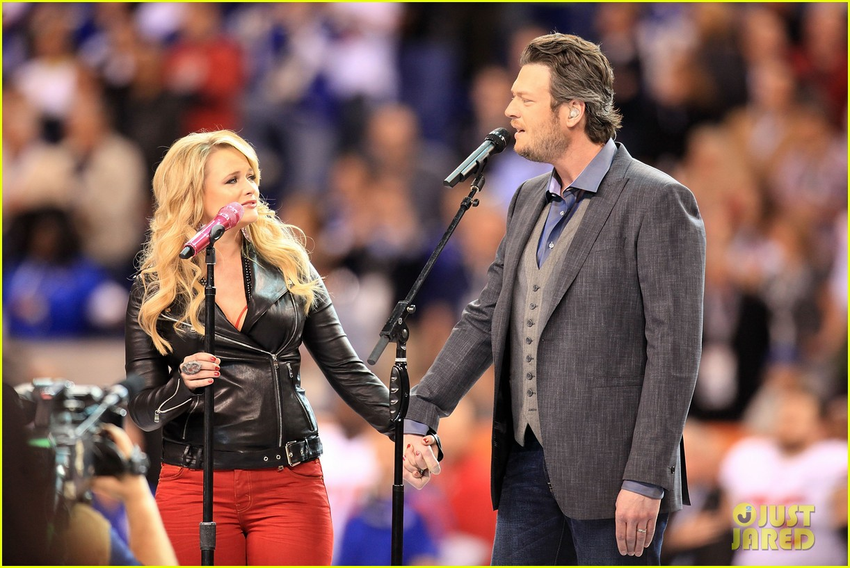 Blake Shelton And Miranda Lambert Wedding.Miranda Lambert Blake Shelton Super Bowl Duet Photo 2625730