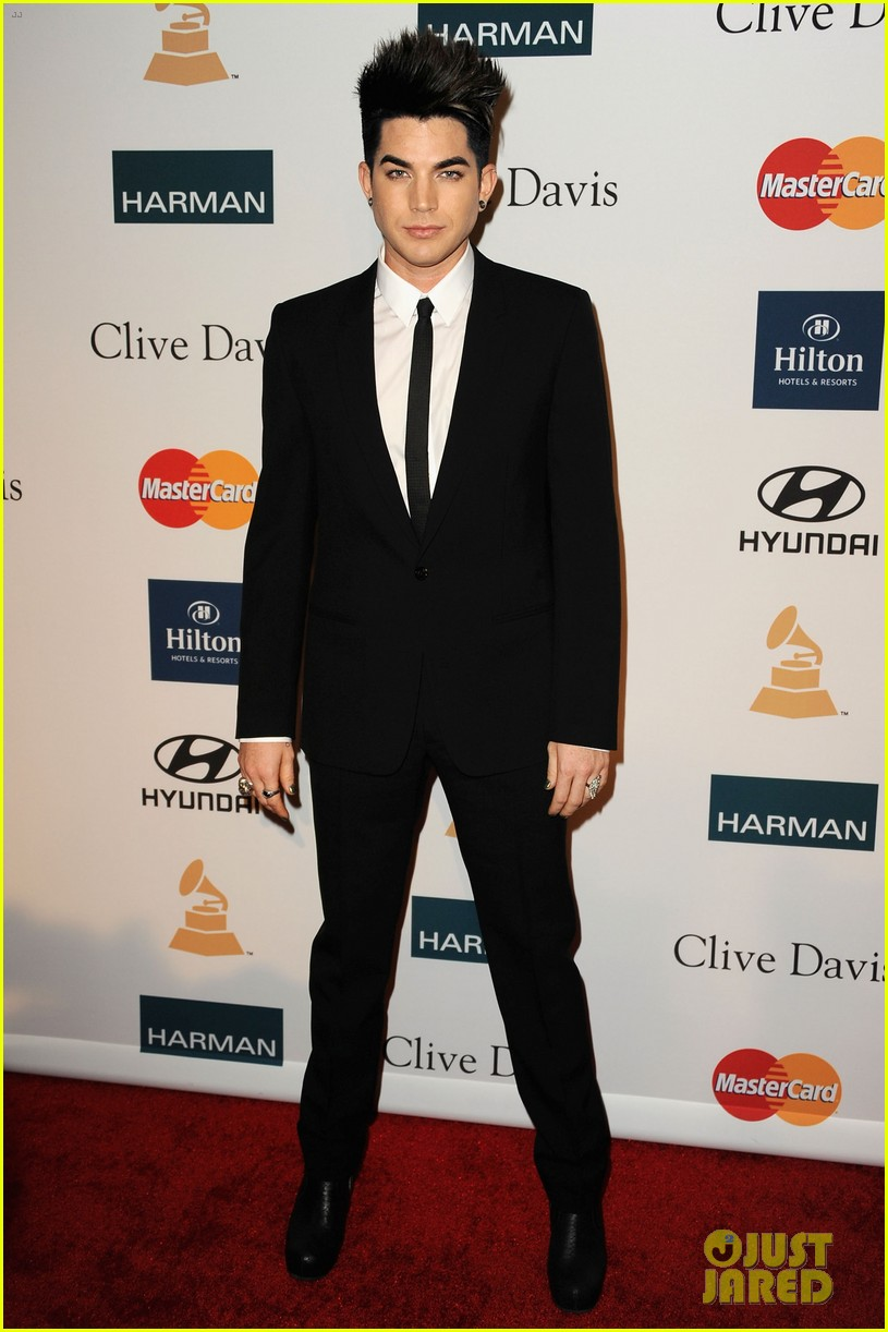 adam lambert clive davis party 032627700