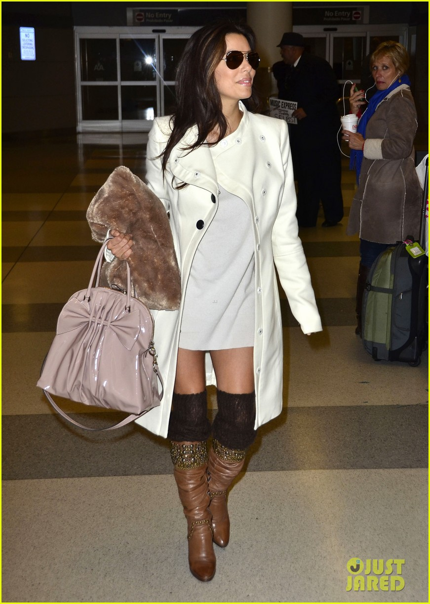 eva longoria jfk flight 01