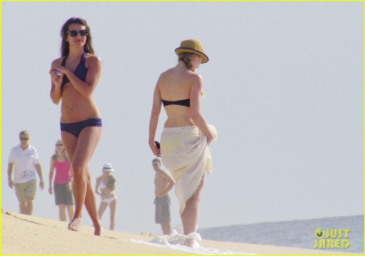 lea michele bikini navy 03