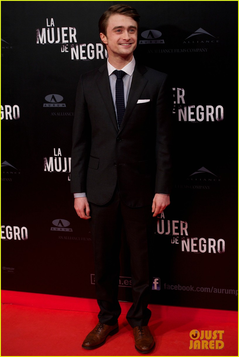 daniel radcliffe madrid photo call woman black 112629040