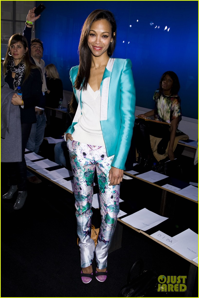 zoe saldana fashion week saturday 12