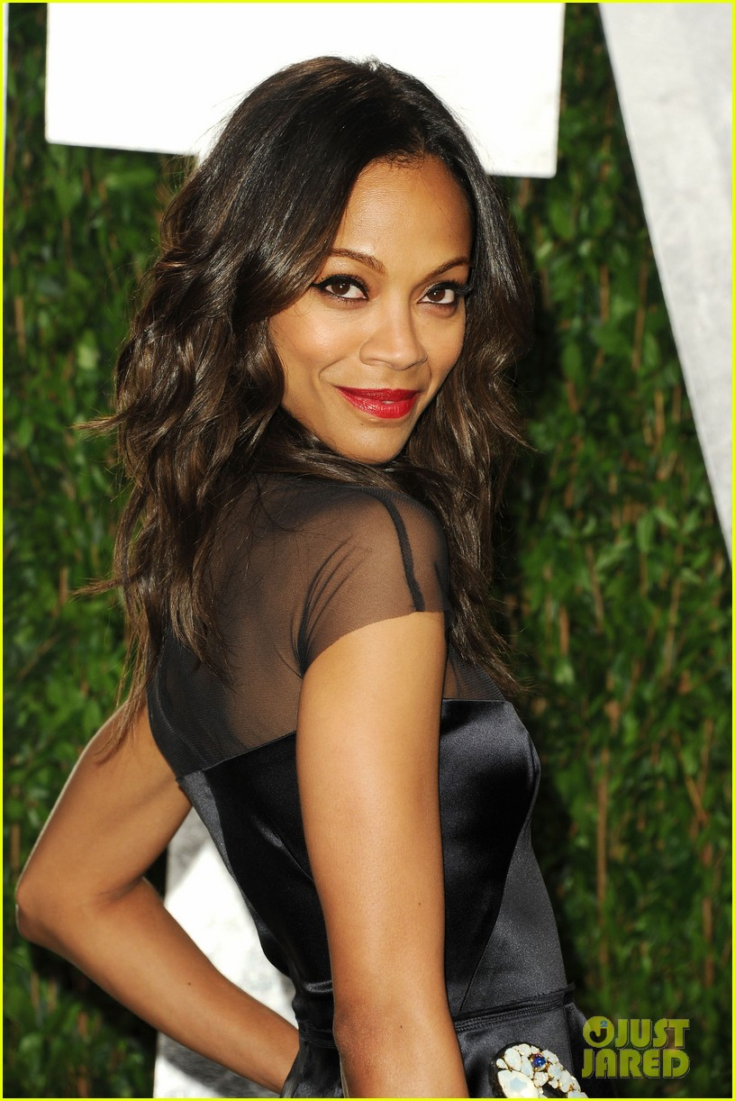 Zoe Saldana Bradley Cooper Vanity Fair Oscar Party Photo