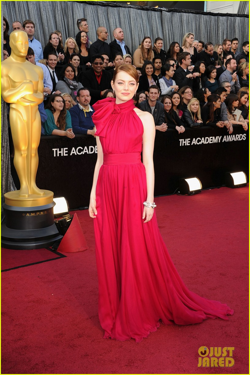emma stone oscars 2012 red carpet 072633512