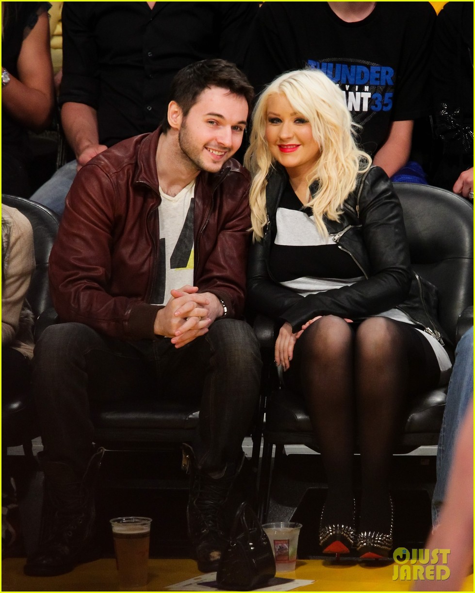 christina aguilera matt rutler lakers lovers 01