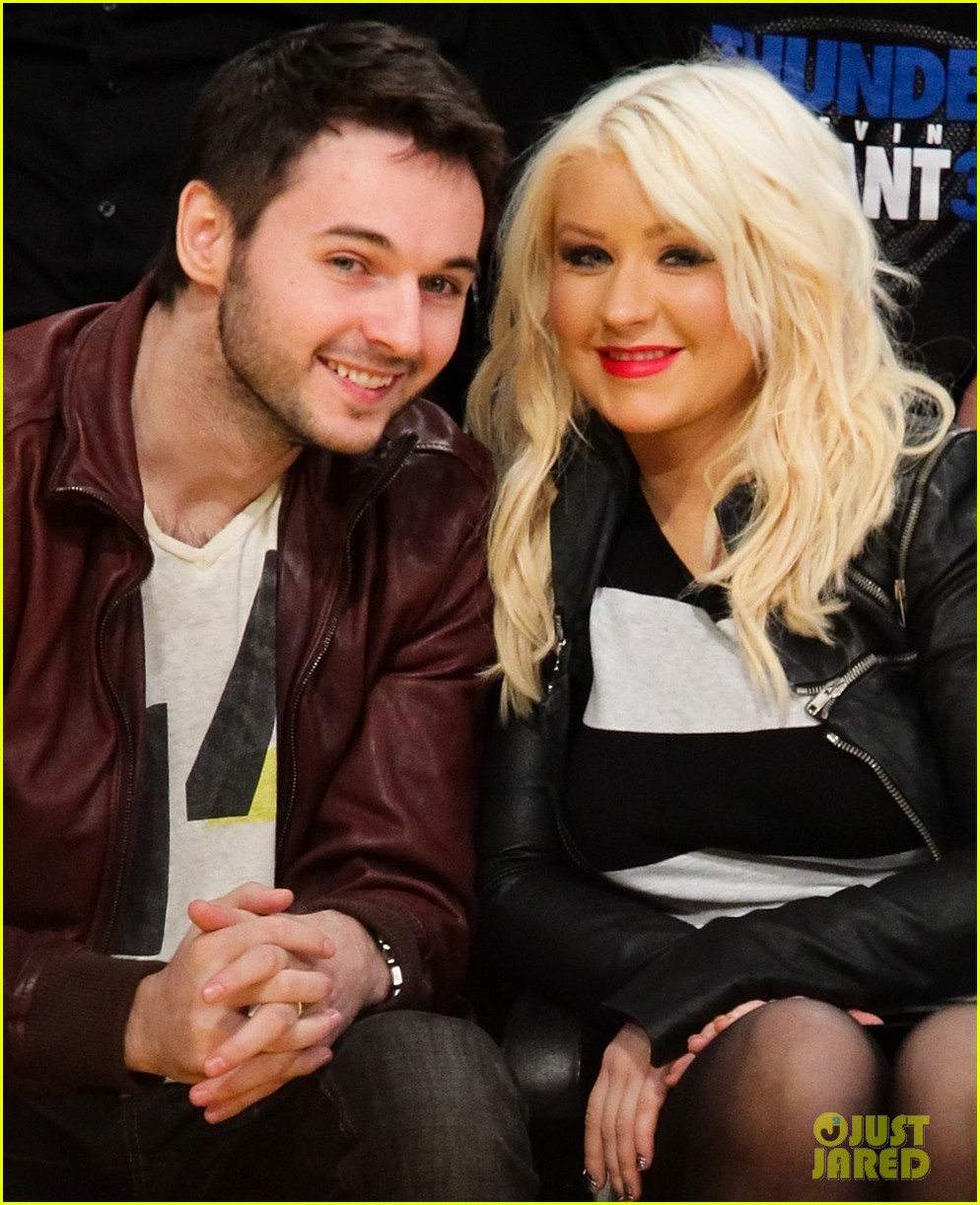christina aguilera matt rutler lakers lovers 052643679