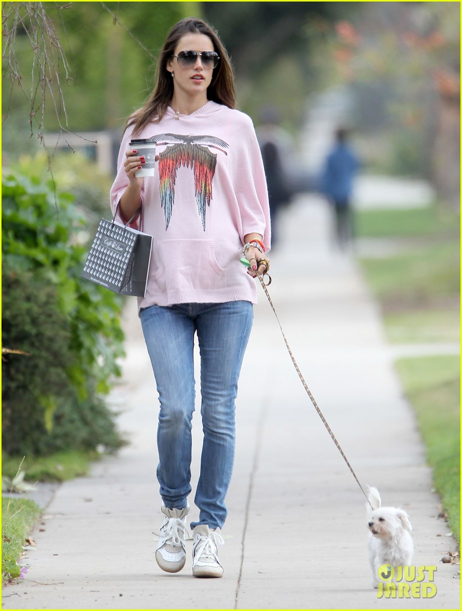 alessandra ambrosio walking dog 032634780