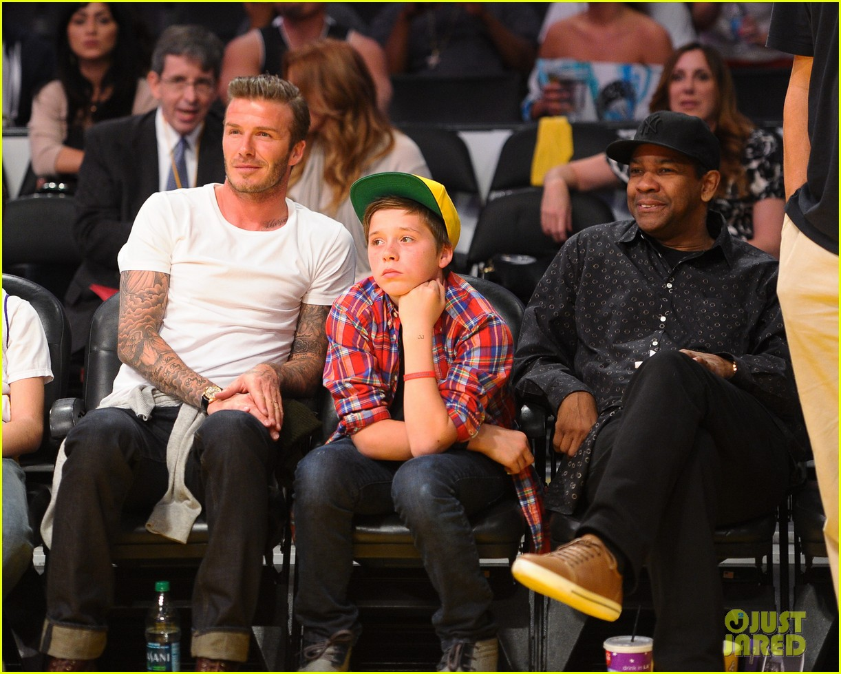 david beckham lakers game with brooklyn 042636182