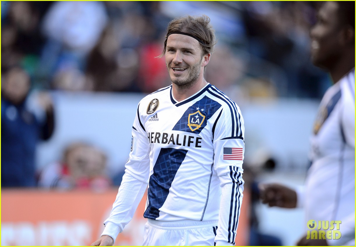 david beckham first l a galaxy win of the season 112640341