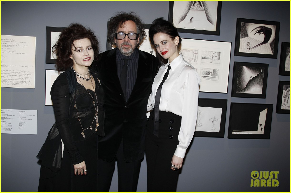 helena bonham carter tim burton exhibition with eva green 052636170