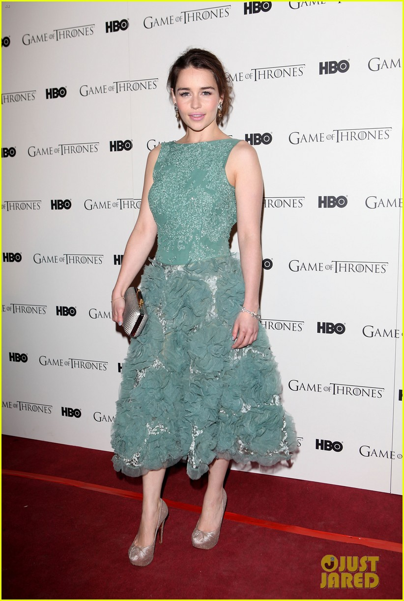 emilia clarke game of thrones dvd launch 132634985