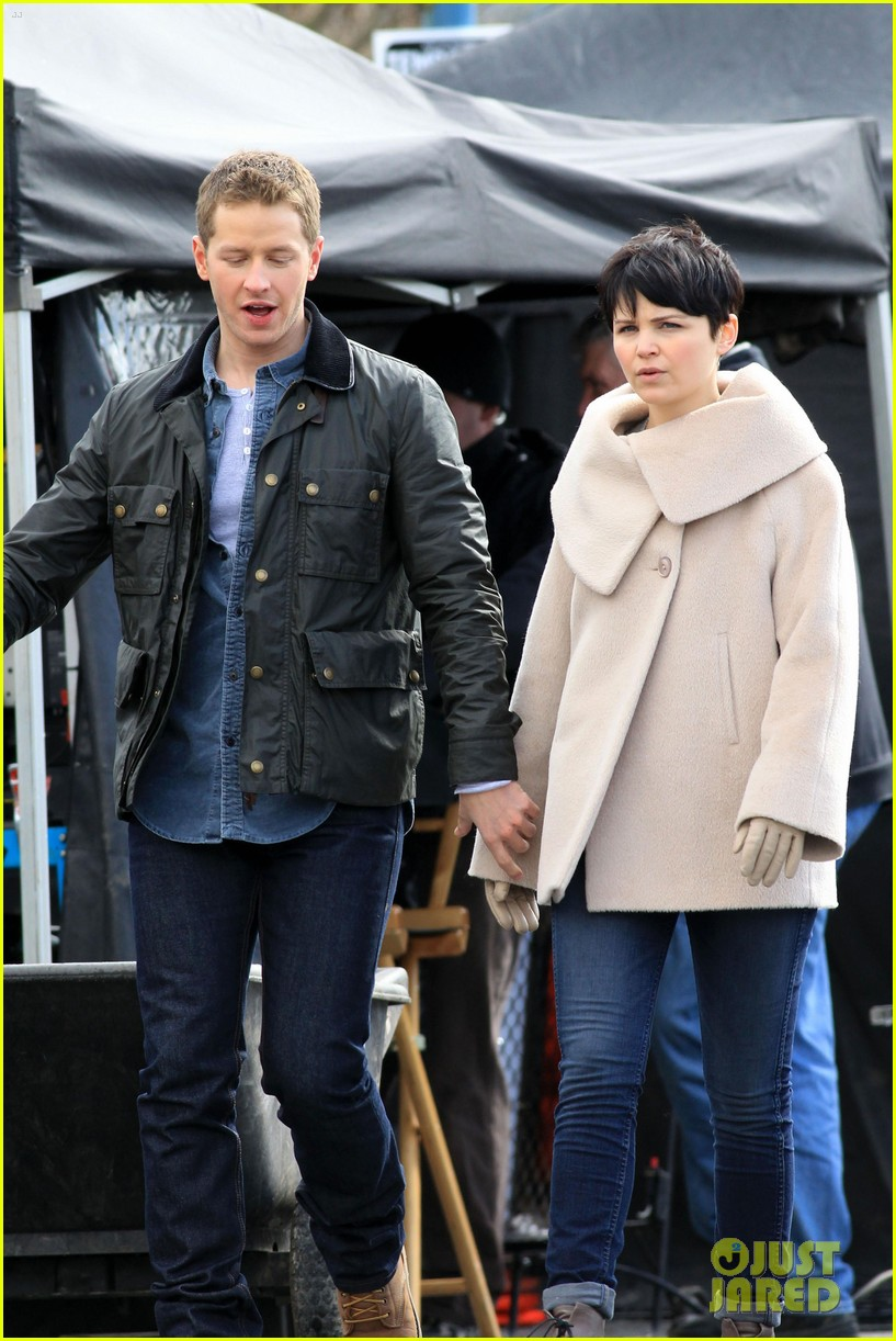 ginnifer josh on set 03
