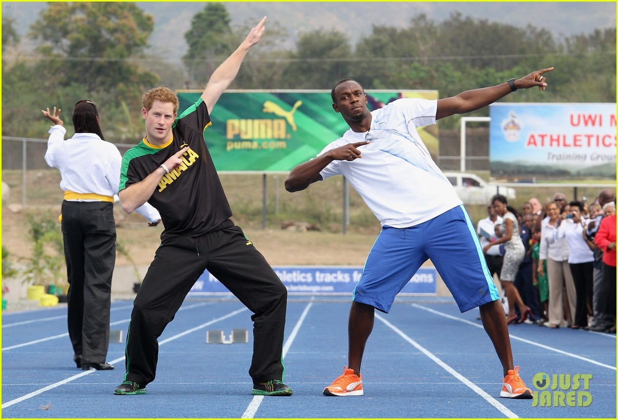 prince harry usain bolt 012636533