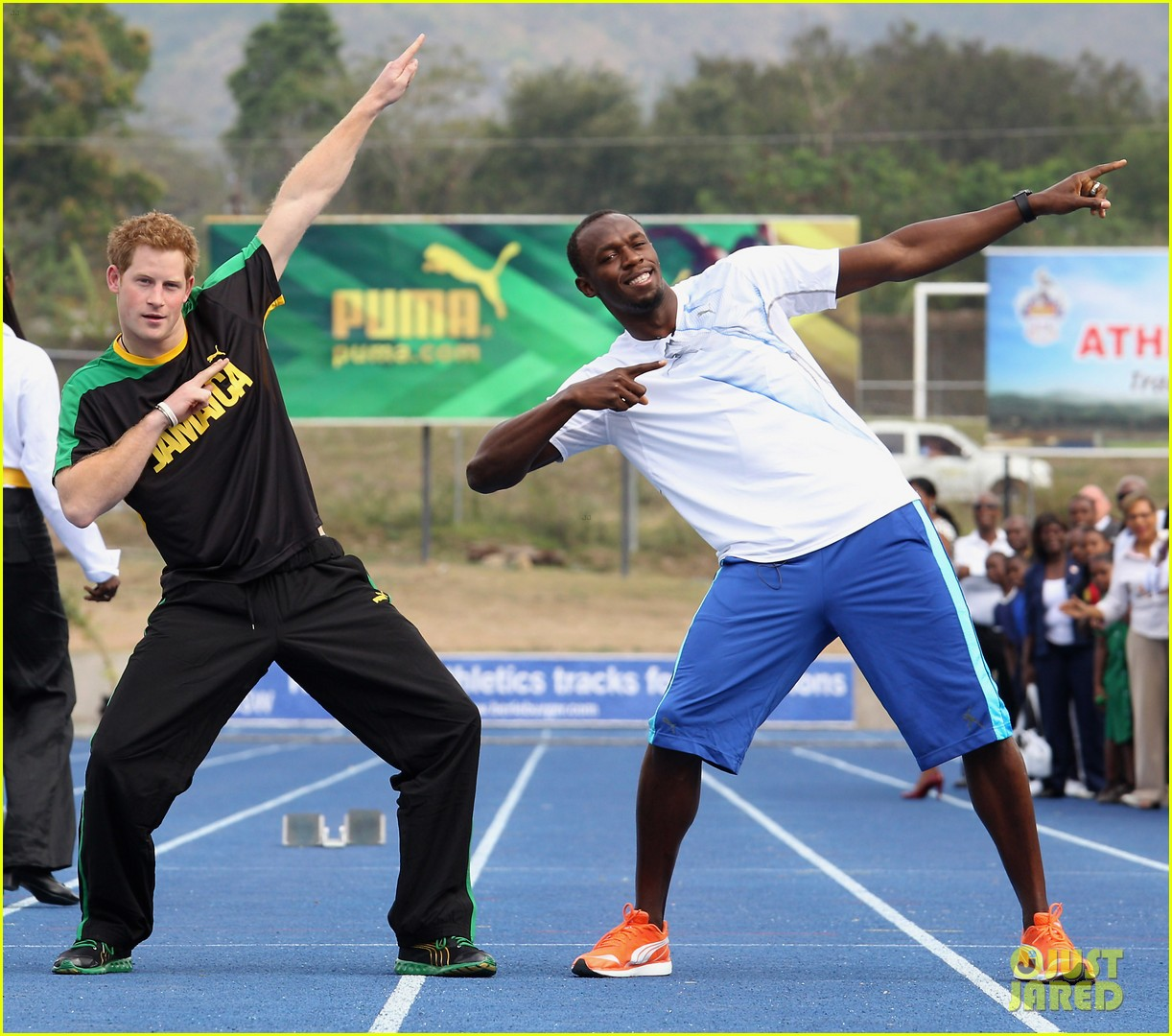 prince harry usain bolt 12
