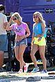 vanessa hudgens neon shorts 01