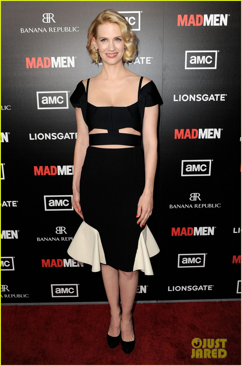 january jones jon hamm mad men premiere 012639058