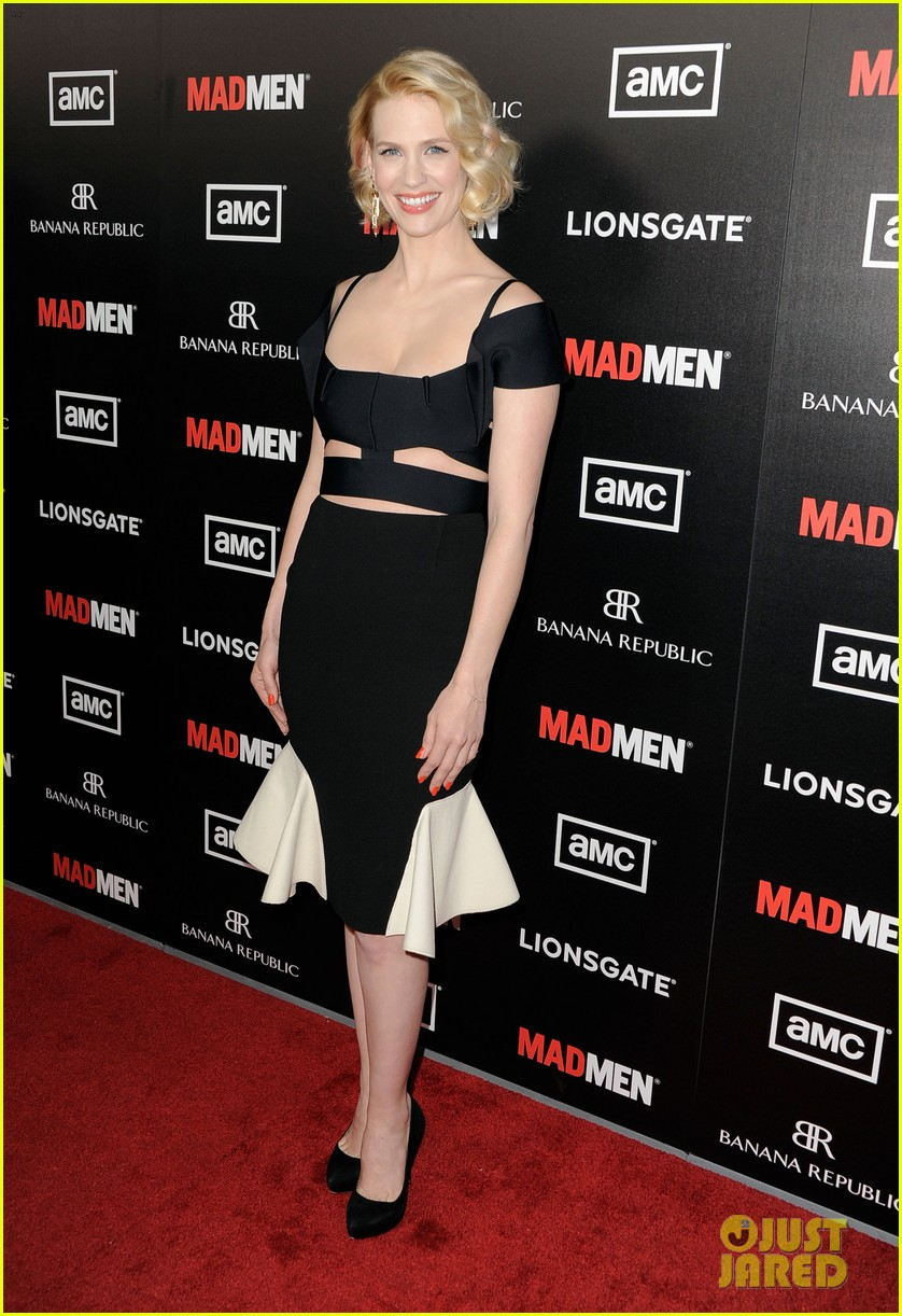 january jones jon hamm mad men premiere 072639064