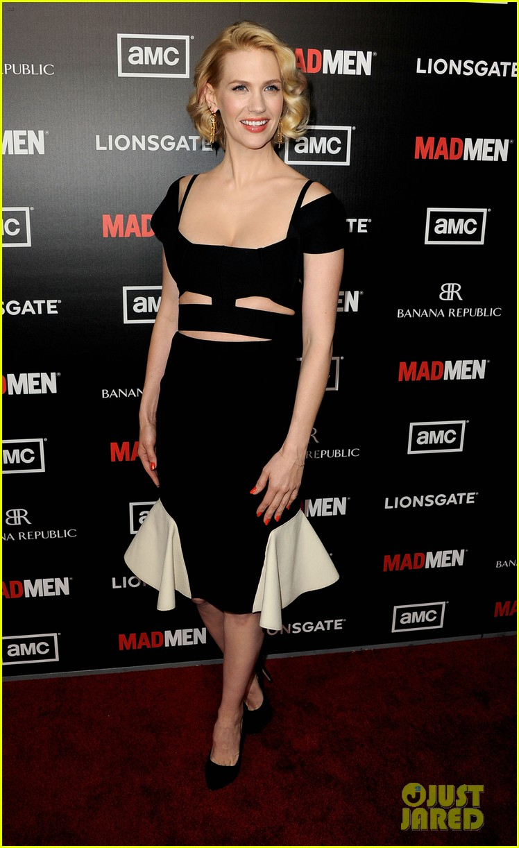 january jones jon hamm mad men premiere 14