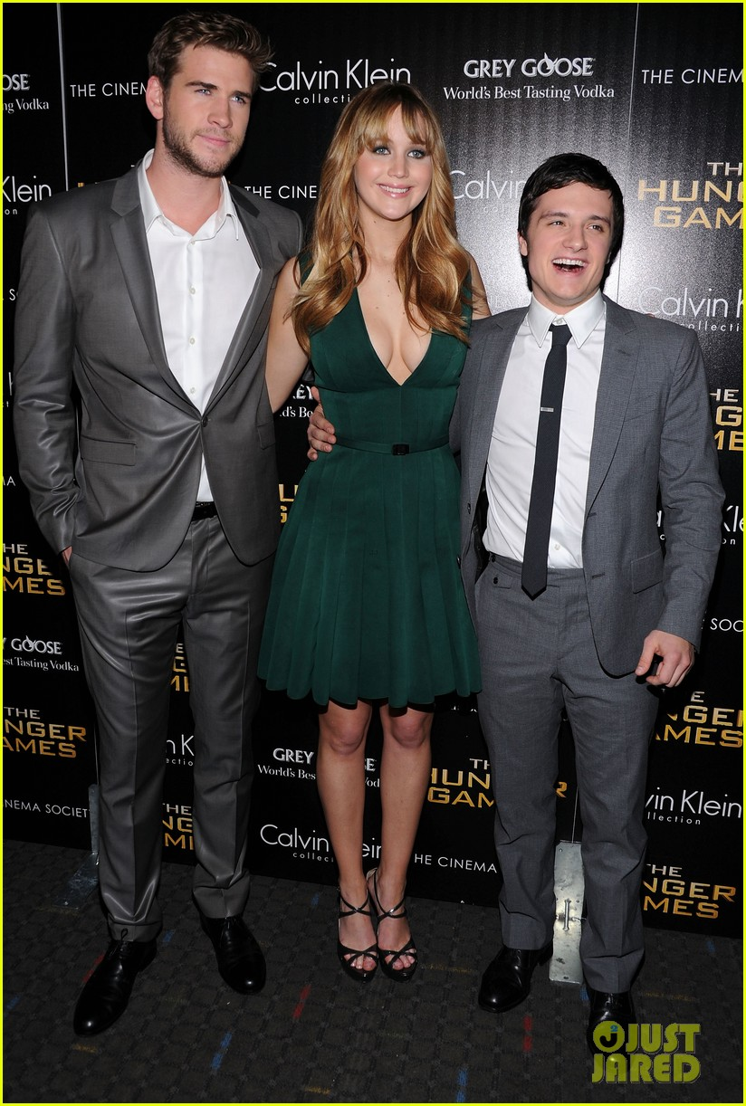 jennifer lawrence liam hemsworth josh hutcherson nyc screening 13
