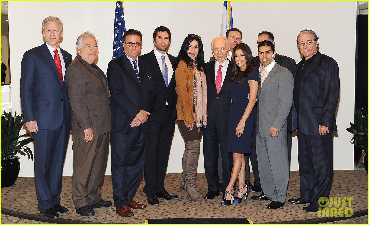 eva longoria shimon peres latino jewish leaders meeting 022638243