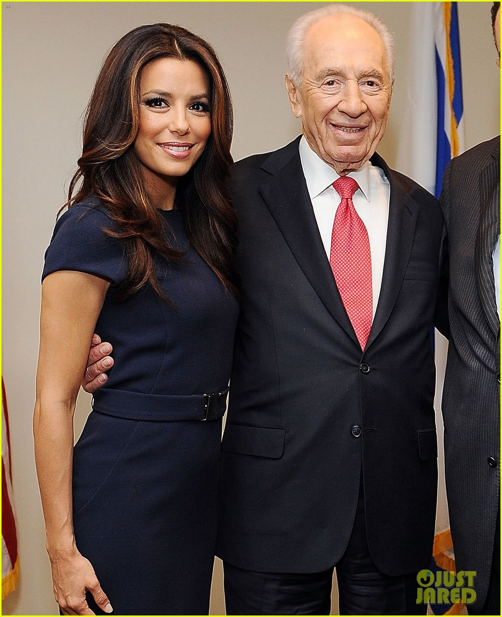 eva longoria shimon peres latino jewish leaders meeting 032638244