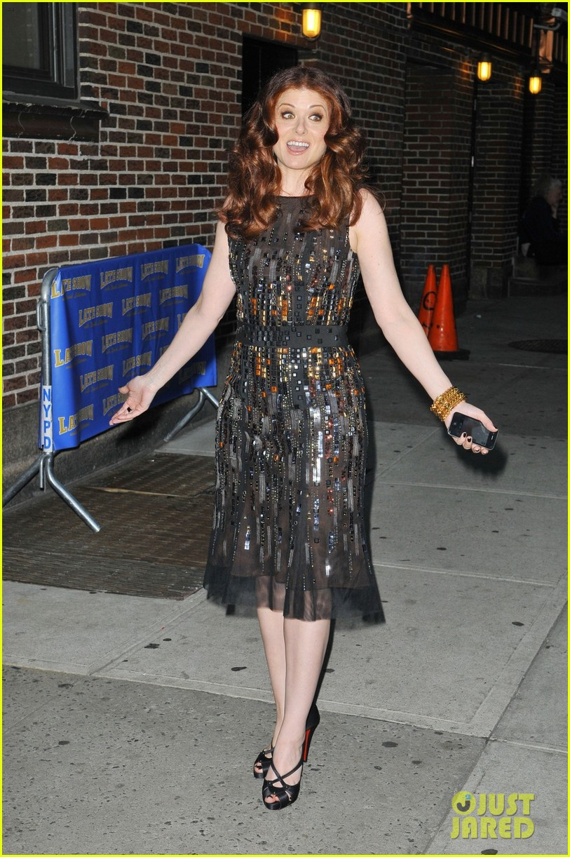 debra messing gotham cover party 022640837