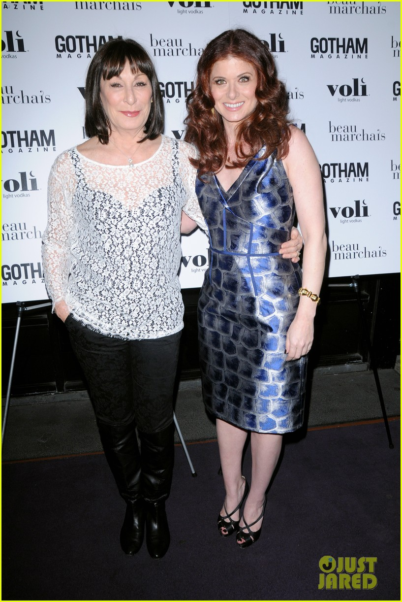debra messing gotham cover party 04