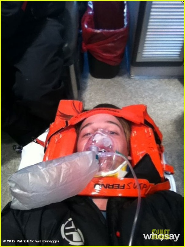 patrick schwarzenegger shirtless swimmer ski accident 022637816