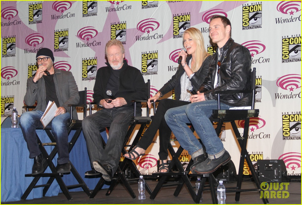 charlize theron michael fassbender prometheus panel wondercon 05