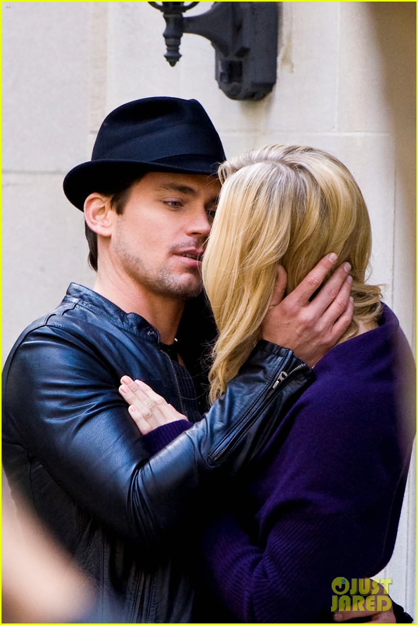 matt bomer laura vandervoort kiss for white collar 072648937