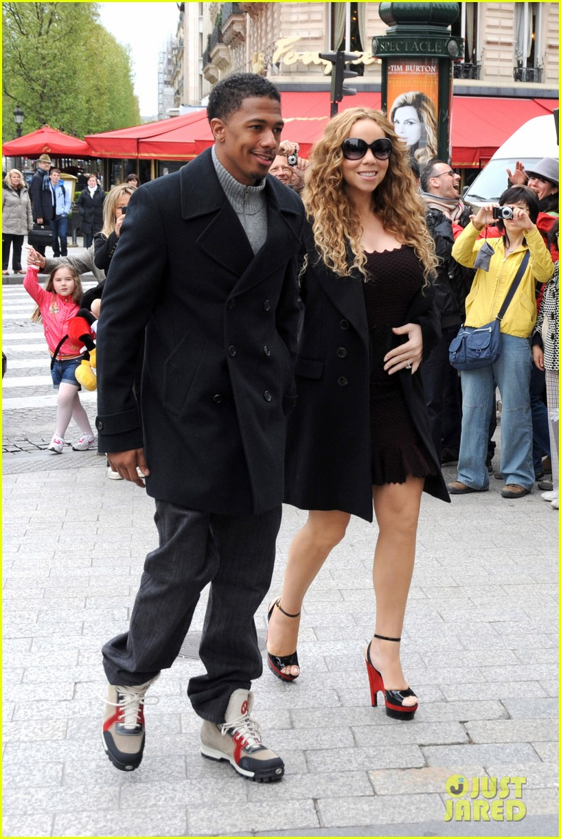 mariah carey nick cannon kiss paris 012654280