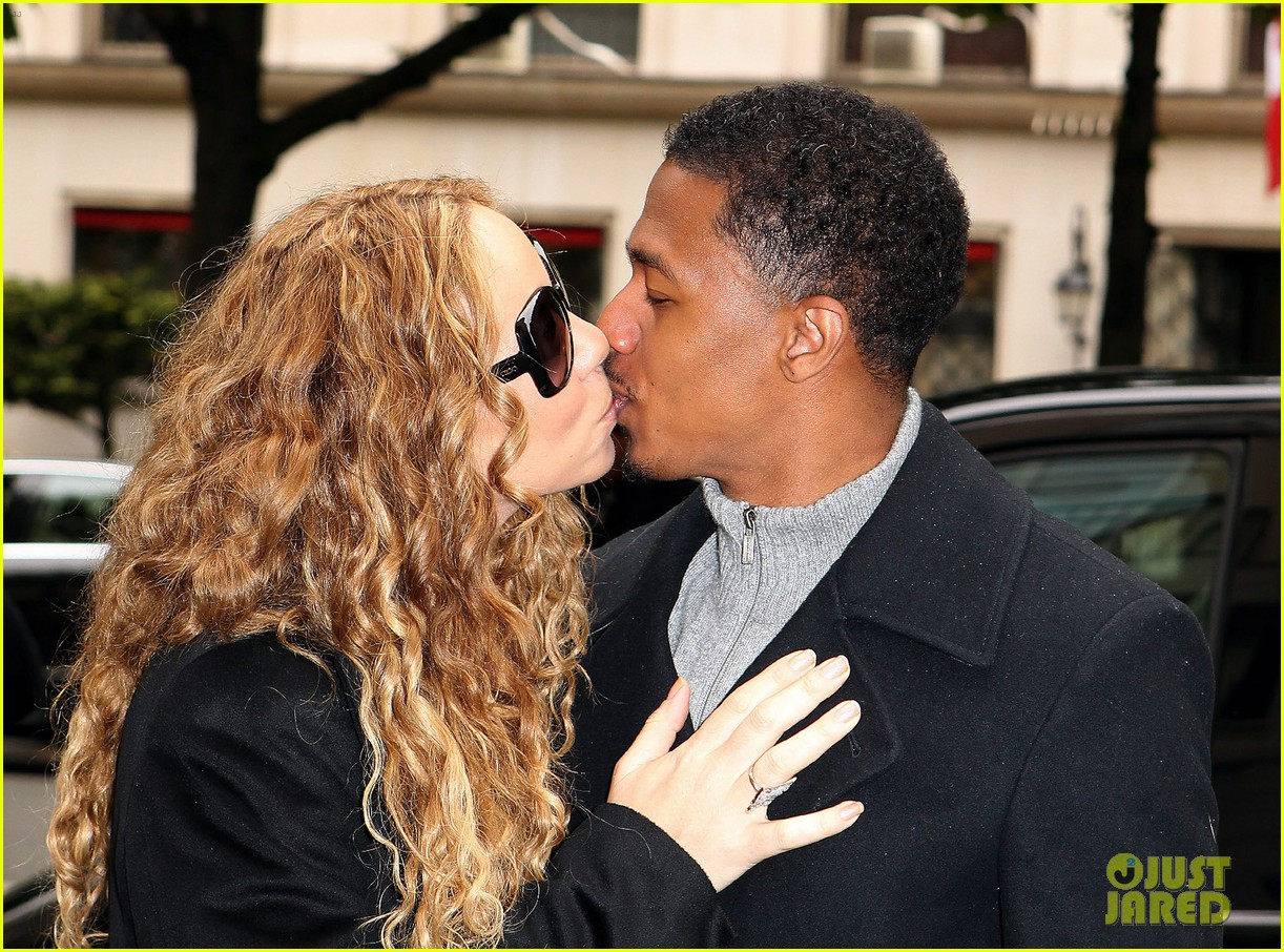 mariah carey nick cannon kiss paris 022654281