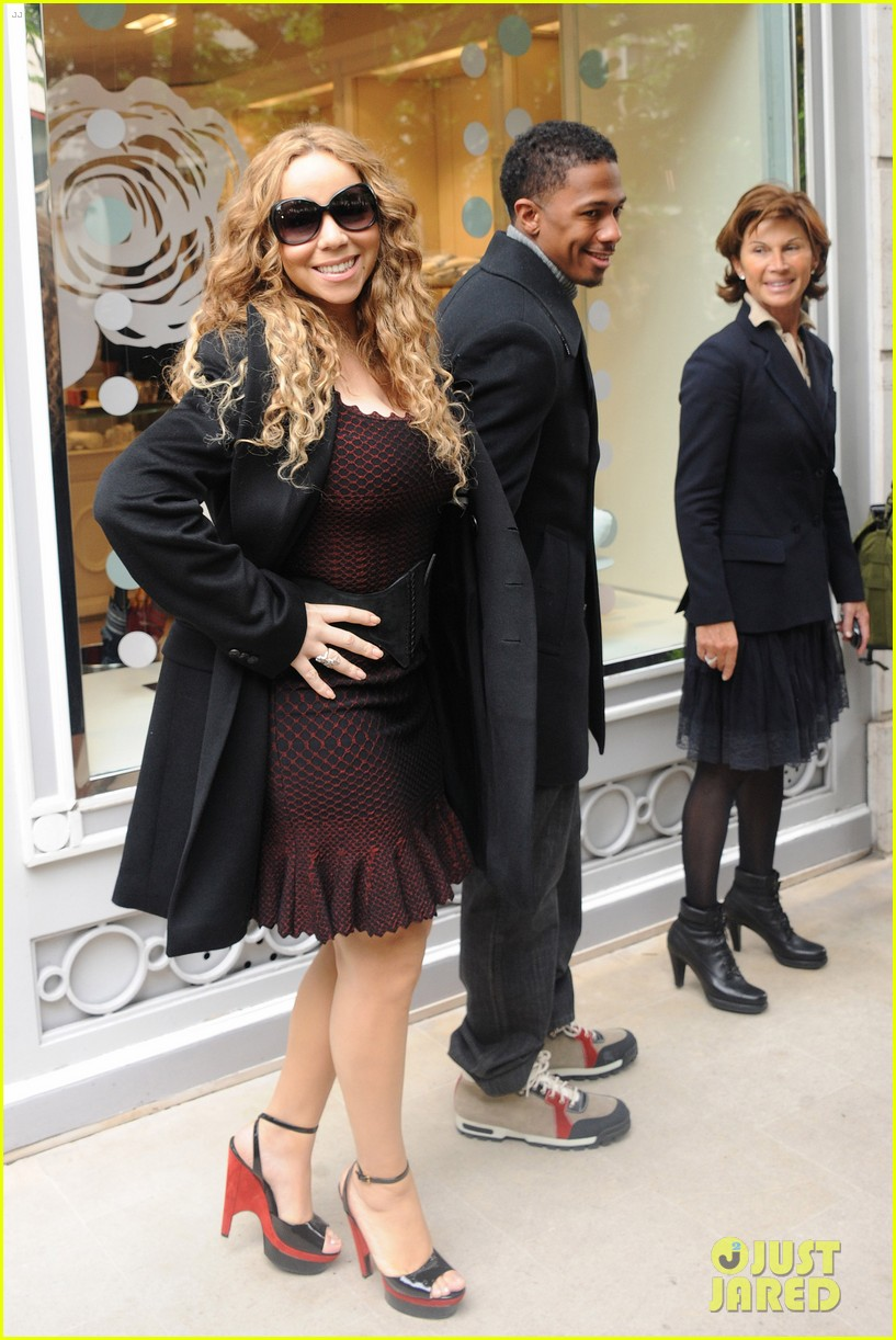 mariah carey nick cannon kiss paris 042654283