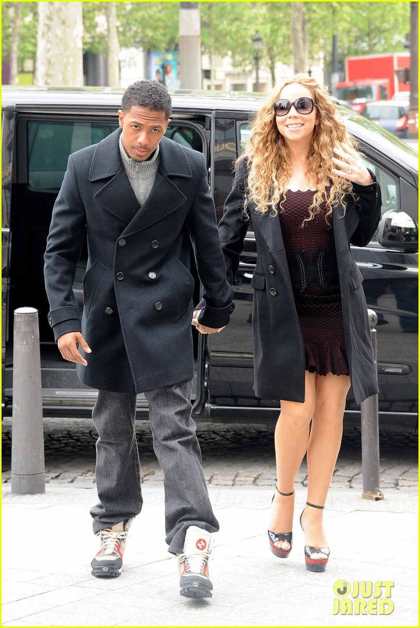 mariah carey nick cannon kiss paris 062654285