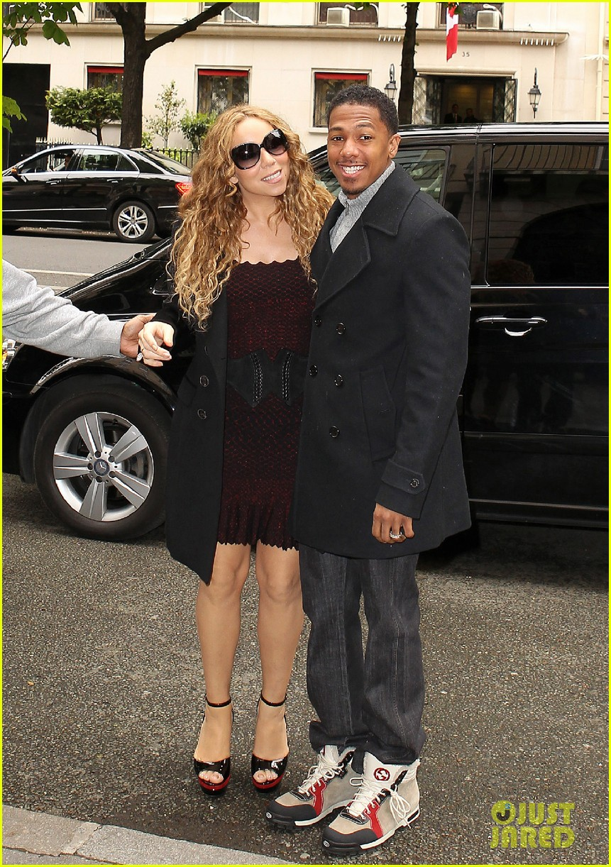 mariah carey nick cannon kiss paris 09