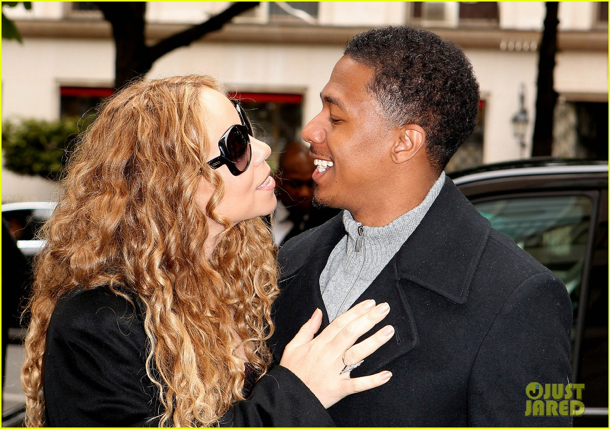 mariah carey nick cannon kiss paris 112654290
