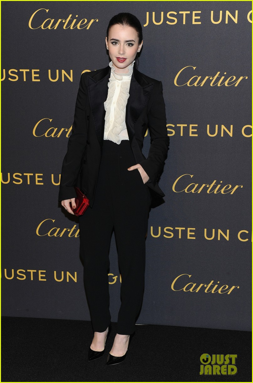 lily collins cartier in the 70s party 012648378