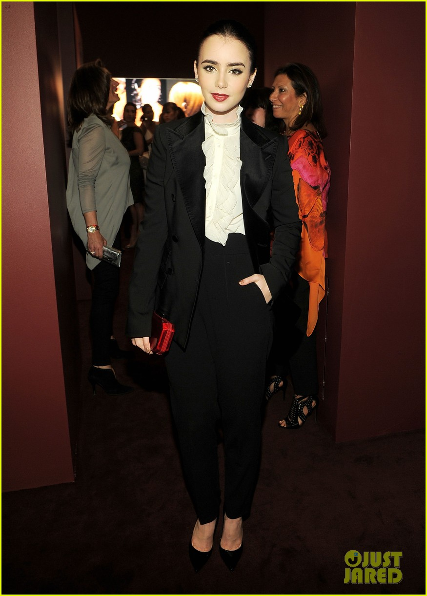 lily collins cartier in the 70s party 052648382