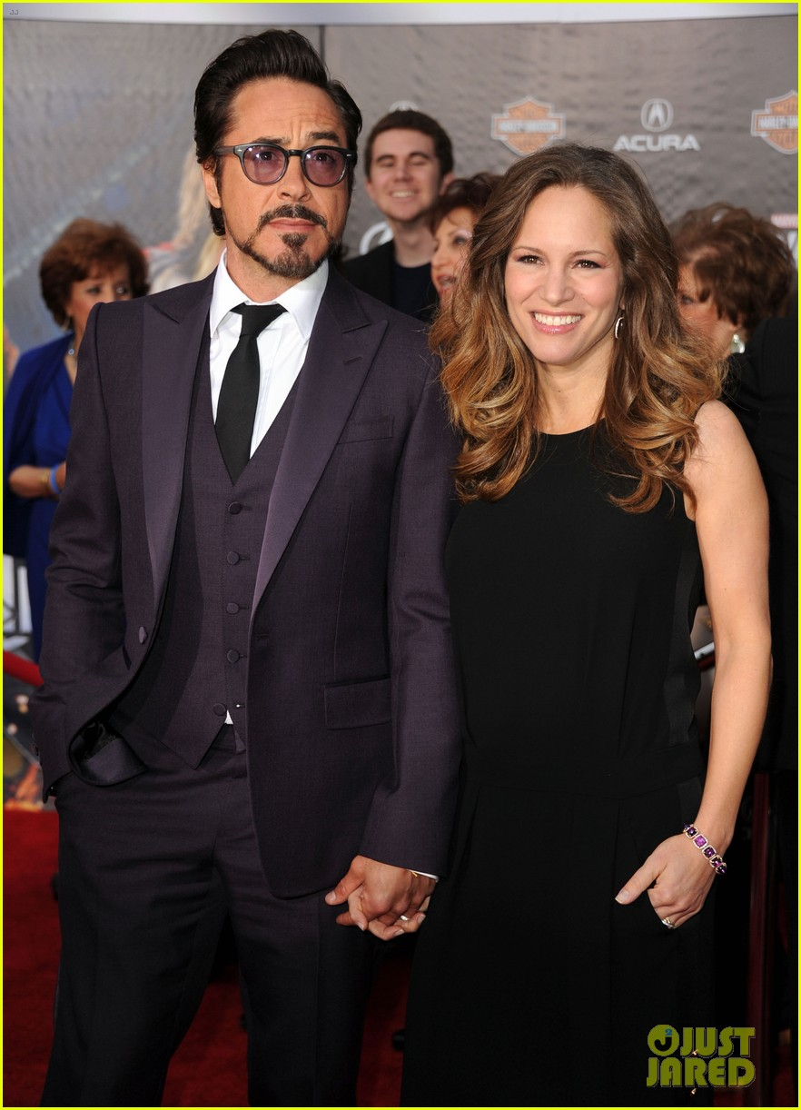 robert downey jr avengers premiere with wife susan 012647836