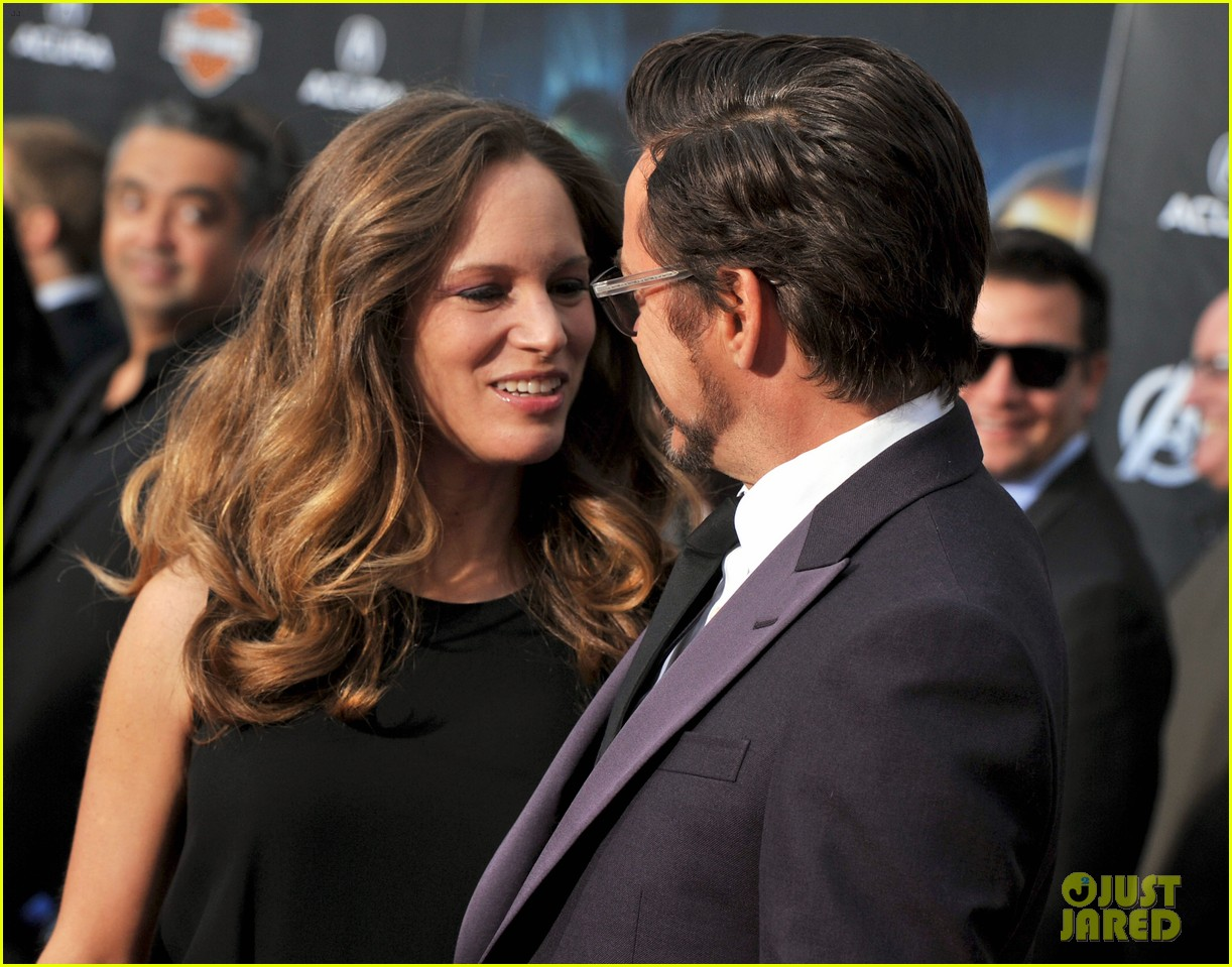 robert downey jr avengers premiere with wife susan 032647838
